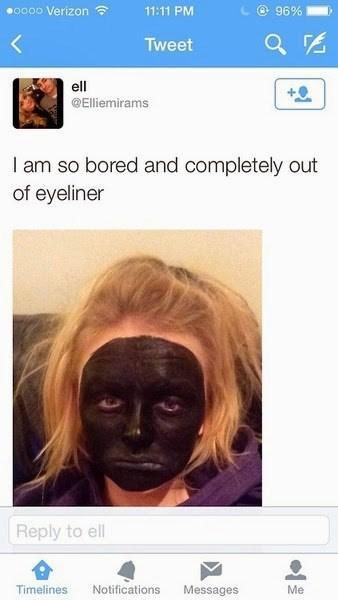 makeup twitter boredom - 8378041344