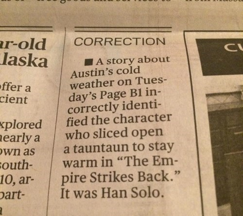 star wars correction newspaper g rated win - 8378056704