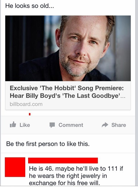 Lord of the Rings Jewelry nerdgasm The Hobbit billy boyd