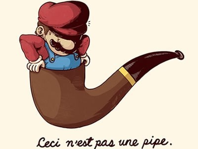 this is not a pipe,for sale,Super Mario bros