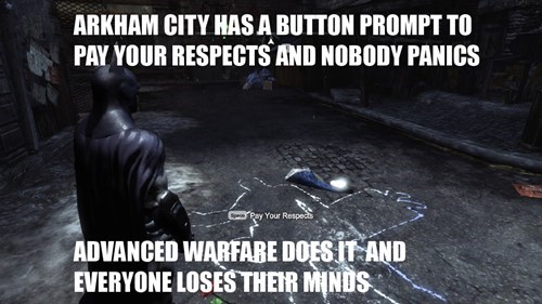 call of duty,double standards,arkham city