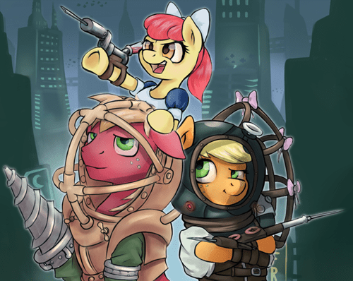 applejack,Apple Family,MLP,bioshock