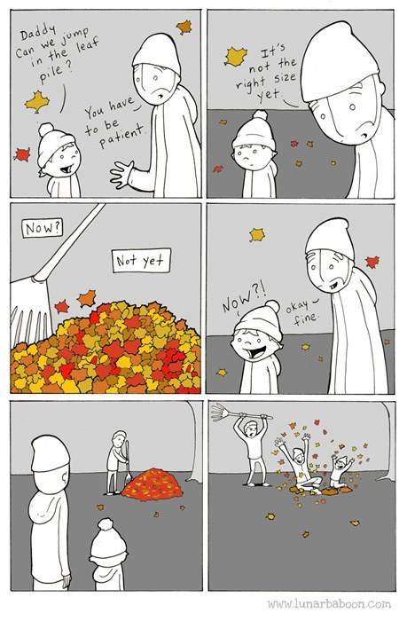 kids,parenting,leaves,web comics,fall
