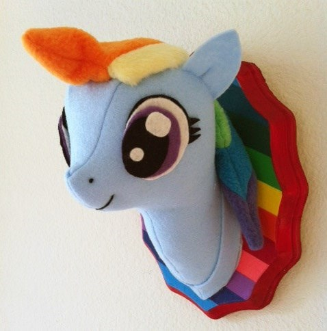 Plush taxidermy rainbow dash - 8379863296