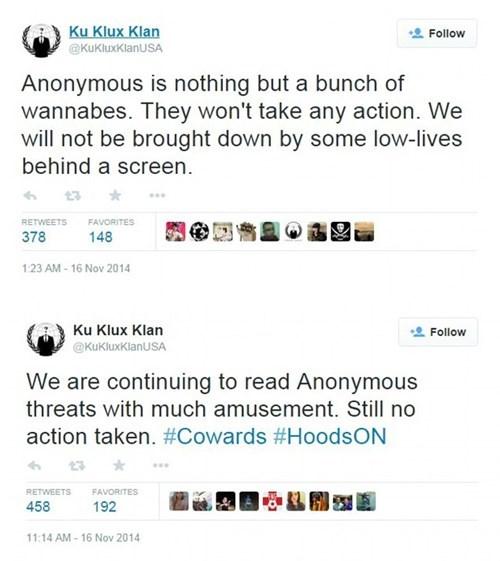 anonymous twitter hacked kkk - 8379904256