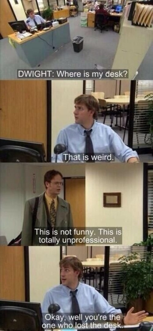 monday thru friday the office jim halpert dwight schrute prank