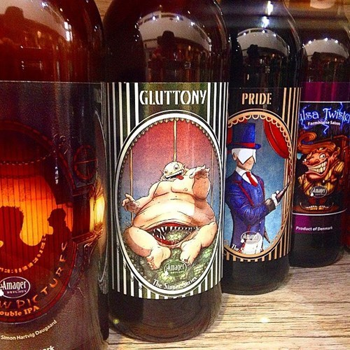 beer eww label gluttony seven deadly sins - 8380088064