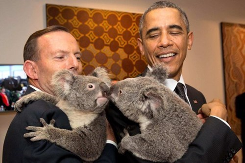 POTUS Got SOme Hang Time at G20 With His Cuddley Mates From Down Under