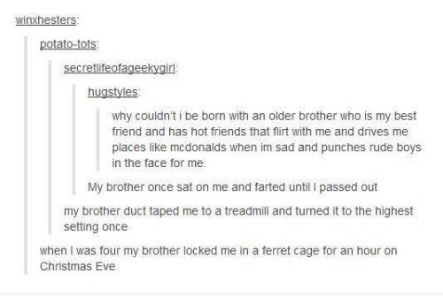 tumblr brother siblings failbook