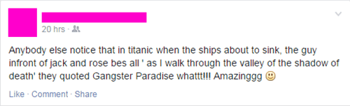 titanic lyrics facepalm coolio - 8380292864