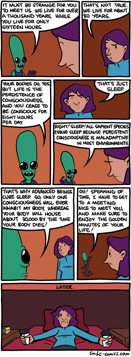 Aliens,mindwarp,sad but true,sleep,web comics