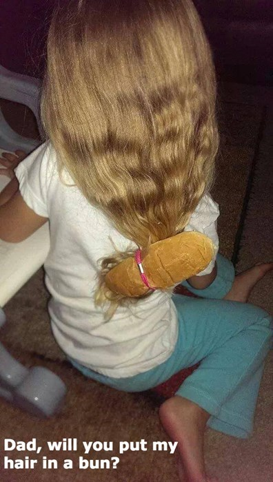 hair,hotdog bun,dad jokes,puns,parenting,g rated