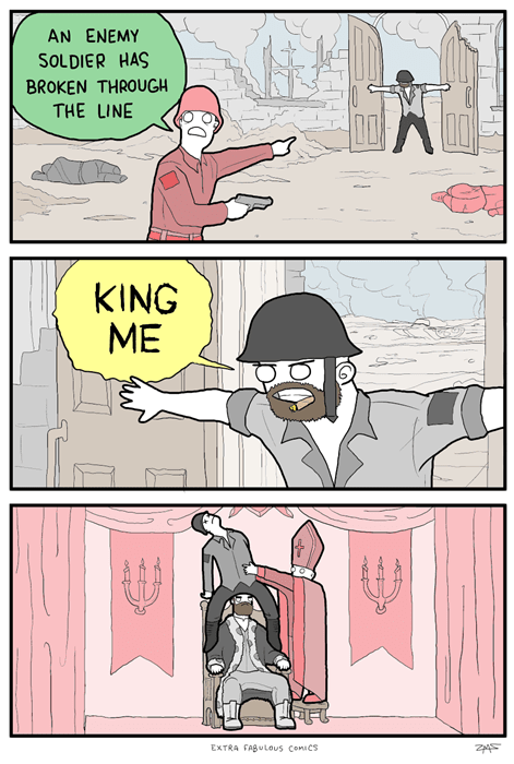checkers,monarchy,sad but true,war,web comics