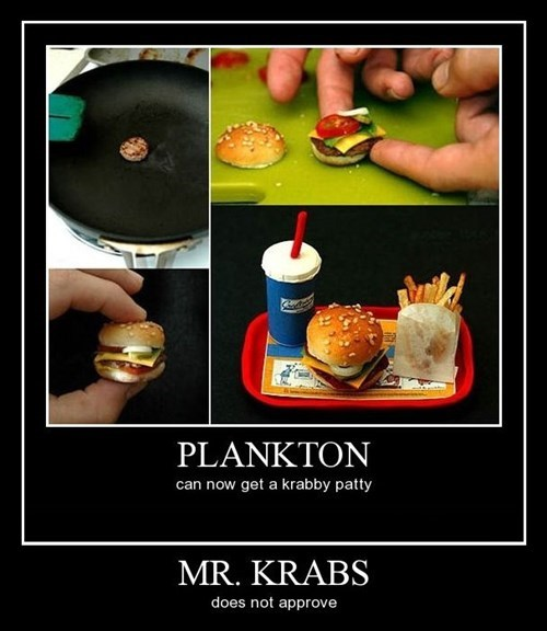 burger SpongeBob SquarePants plankton mr krabs funny - 8380701440
