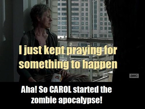 carol peletier,zombie apocalypse,prayer