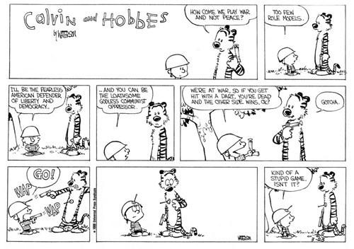 call of duty,calvin and hobbes,comics