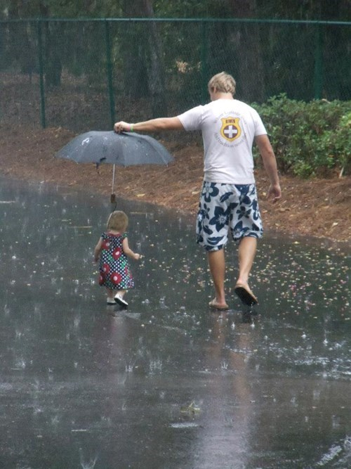 umbrella parenting dad rain win - 8381270784