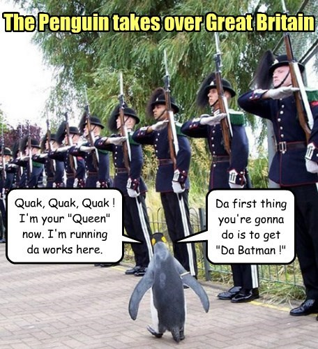 great britain birds takeover batman penguin