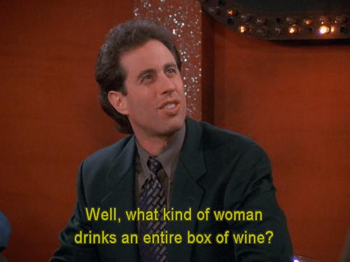 box of wine wine seinfeld funny - 8381366016