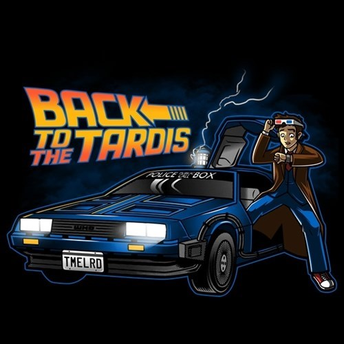 DeLorean back to the future tshirts 10th doctor - 8381431040