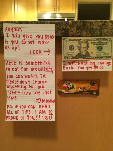 kids note parenting bribe morning g rated