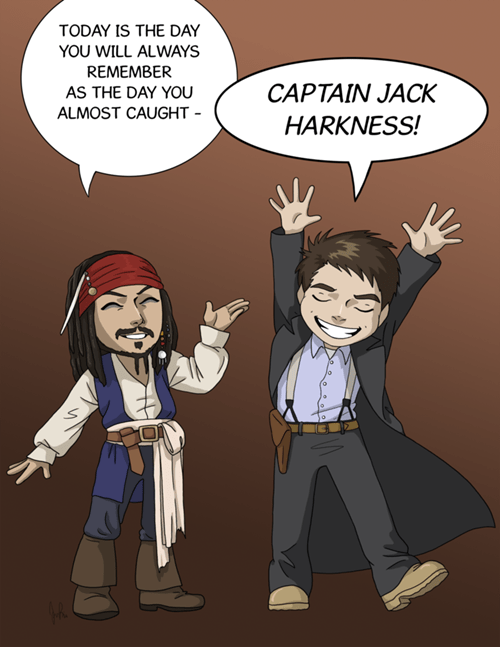 crossover Captain Jack Harkness jack sparrow Fan Art Pirates of the Caribbean doctor who - 8381524736