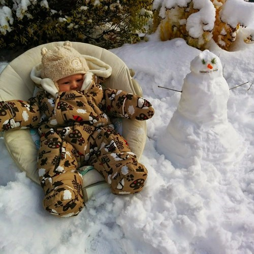 baby snow parenting snowman - 8381597440