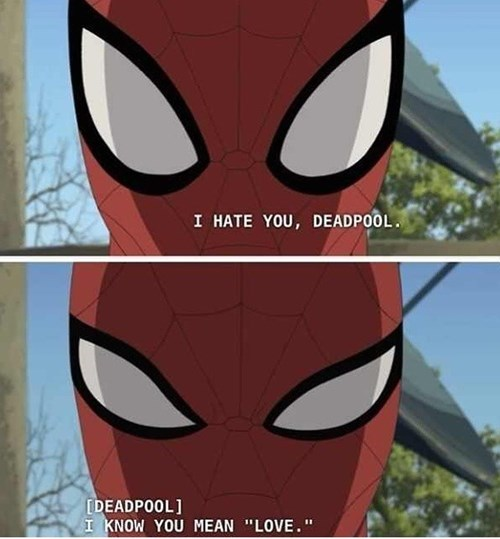 deadpool,love,Spider-Man
