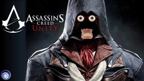 Ubisoft,assassin's creed unity,poster,glitches