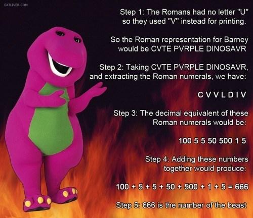 illuminati satan barney dinosaurs - 8381630208