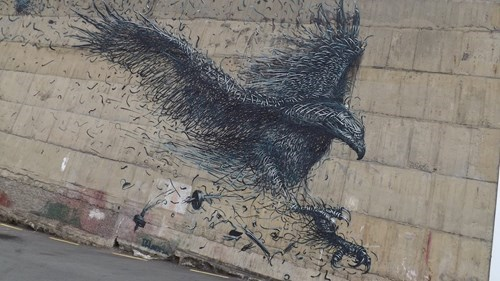 Street Art birds graffiti hacked irl - 8381733376