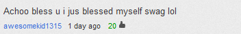 swag,facepalm,youtube comments