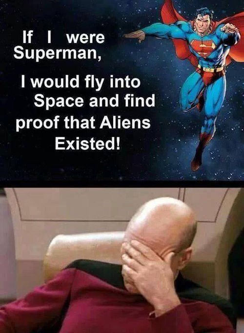 Aliens face palm superman - 8382269184