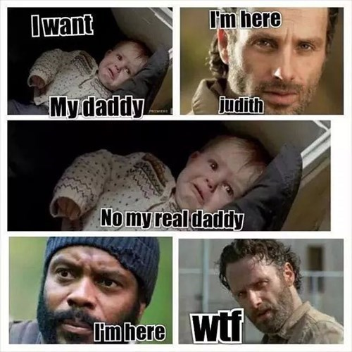 Rick Grimes,tyreese,judith grimes