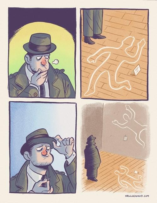 crime scene,puns,crime,Gravity,web comics