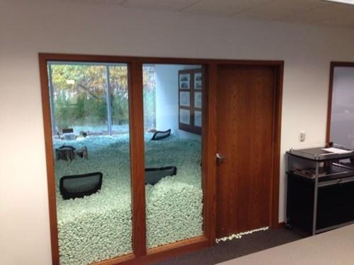 monday thru friday styrofoam Office prank