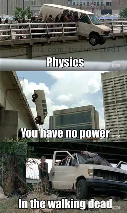 physics The Walking Dead magic - 8383147776