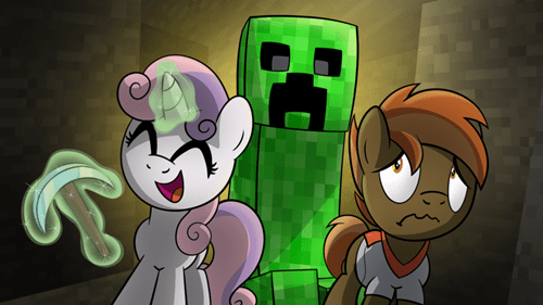 Sweetie Belle minecraft button mash - 8383259648