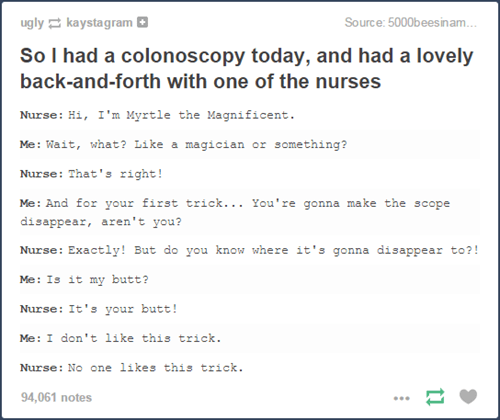 tumblr,doctor,butt stuff,true story