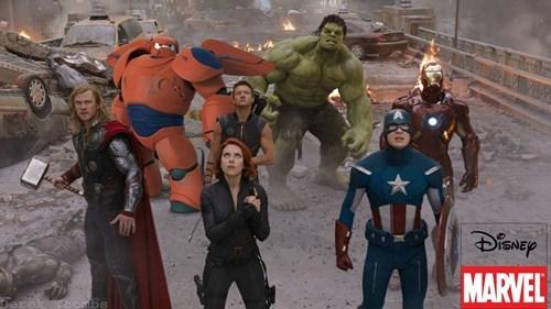 baymax big hero 6 The Avengers - 8384022784