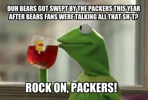 Duh Bears Got Swept By The Packers This Year After Bears Fans Were Talking All That Sh T Memebase Funny Memes