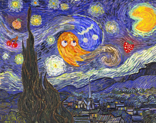 art pac man Vincent van Gogh - 8384534016