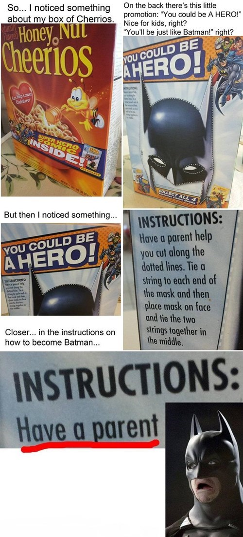 orphan cheerios batman - 8384665600
