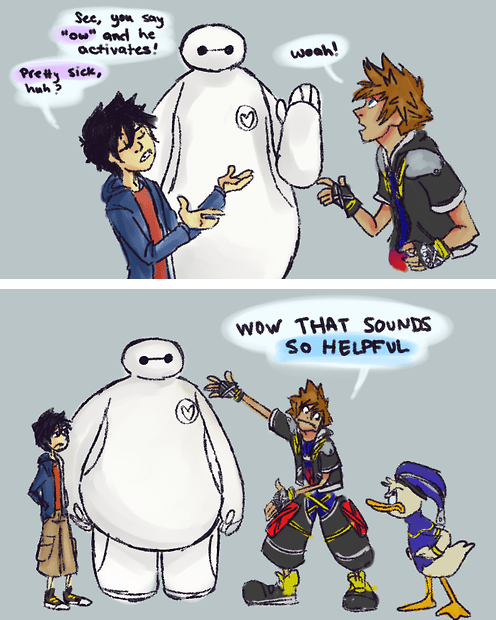 crossover disney Fan Art kingdom hearts big hero 6 - 8384709888