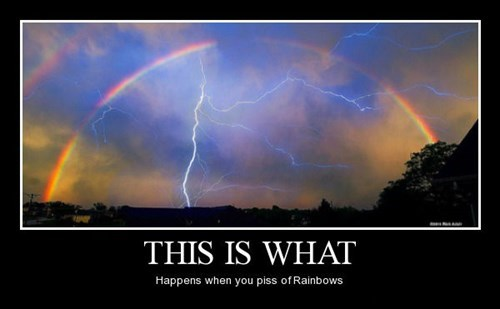 rainbows,lightening,funny