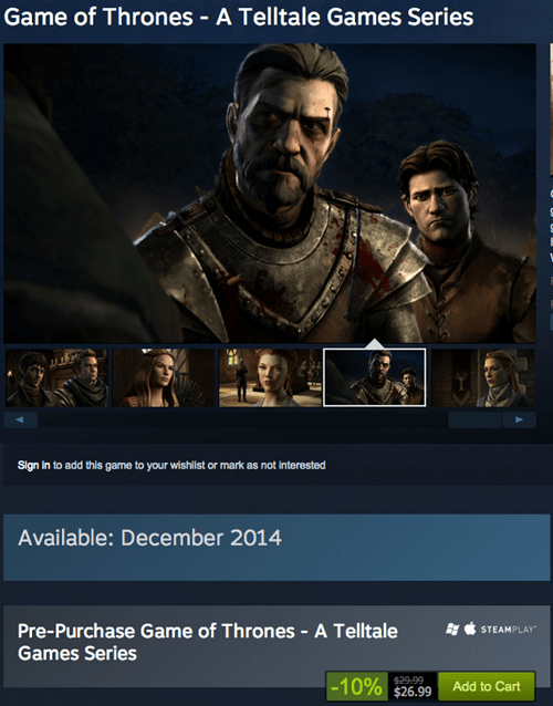 Game of Thrones telltale games Video Game Coverage - 8385116928