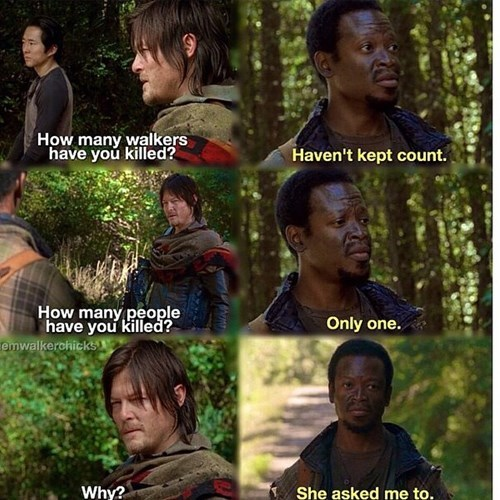 daryl dixon,bob,The Walking Dead