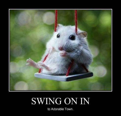 cute swing funny mouse
