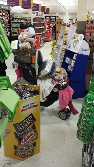 kids thanksgiving parenting stroller grocery shopping grocery store - 8385243136