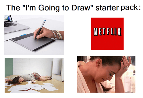 "Product - The ""I'm Going to Draw"" starter pack: NETFLIK"